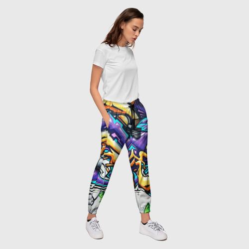 Женские брюки 3D NEON GRAFFITI Фото 01