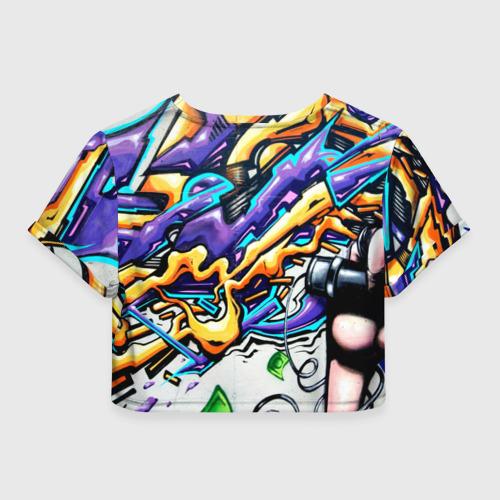 Женская футболка Crop-top 3D NEON GRAFFITI Фото 01