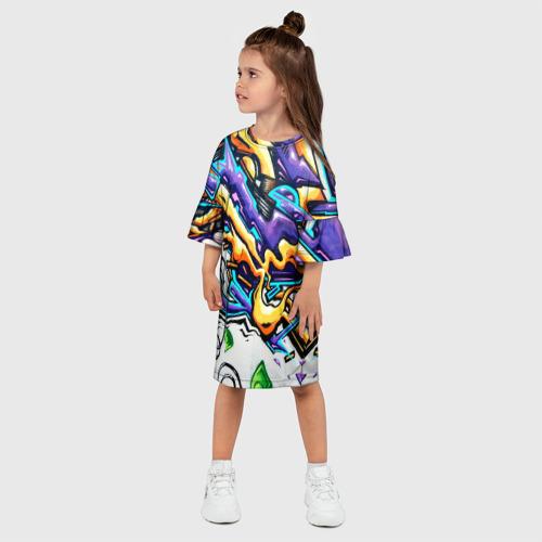 Детское платье 3D NEON GRAFFITI Фото 01