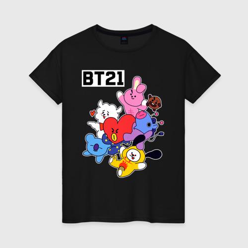 Женская футболка хлопок BT21 Mascots Фото 01