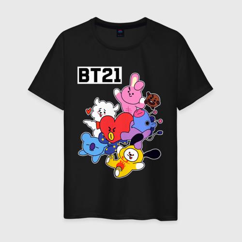 Мужская футболка хлопок BT21 Mascots Фото 01
