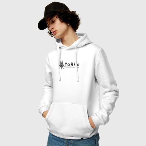 Мужская толстовка хлопок  Фото 03, YoRHa Logo
