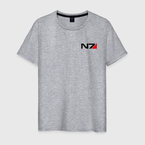 Мужская футболка хлопок MASS EFFECT N7 | МАСС ЭФФЕКТ Н7 Фото 01