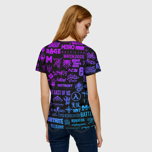Женская футболка 3D ЛОГОТИПЫ ИГР Фото 01