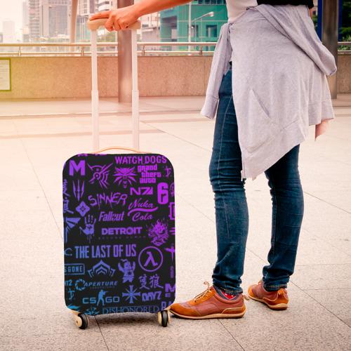 Чехол для чемодана 3D ЛОГОТИПЫ ИГР Фото 01