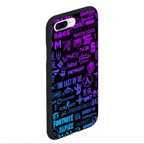 Чехол для iPhone 7Plus/8 Plus матовый ЛОГОТИПЫ ИГР Фото 01