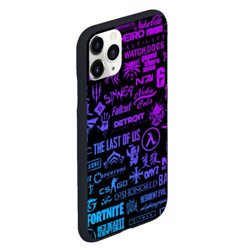 Чехол для iPhone 11 Pro матовый ЛОГОТИПЫ ИГР Фото 01