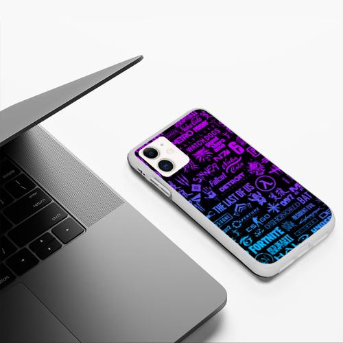 Чехол для iPhone 11 матовый ЛОГОТИПЫ ИГР Фото 01