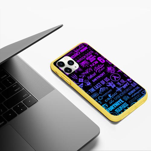 Чехол для iPhone 11 Pro Max матовый ЛОГОТИПЫ ИГР Фото 01