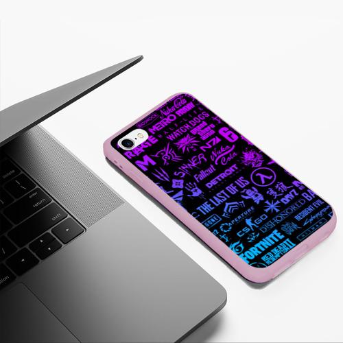 Чехол для iPhone 6Plus/6S Plus матовый ЛОГОТИПЫ ИГР Фото 01