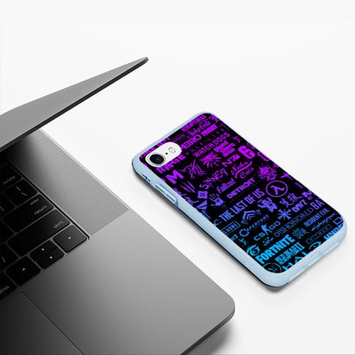 Чехол для iPhone 7/8 матовый ЛОГОТИПЫ ИГР Фото 01