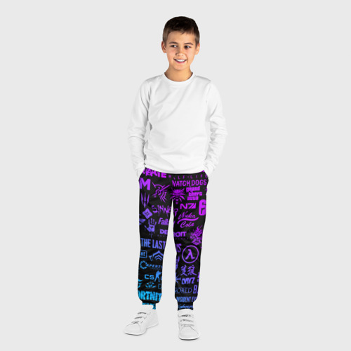 Детские брюки 3D ЛОГОТИПЫ ИГР Фото 01