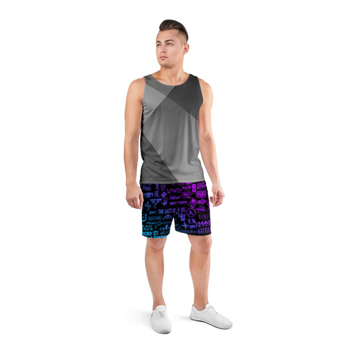 Мужские шорты спортивные ЛОГОТИПЫ ИГР Фото 01
