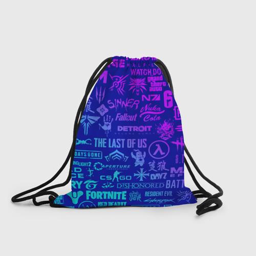 Рюкзак-мешок 3D ЛОГОТИПЫ ИГР Фото 01