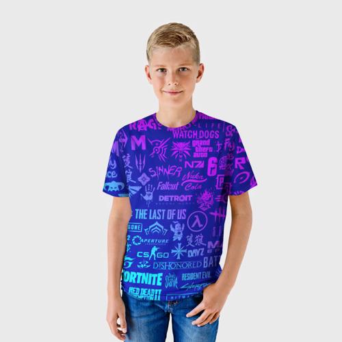 ЛОГОТИПЫ ИГР (детская футболка 3d)