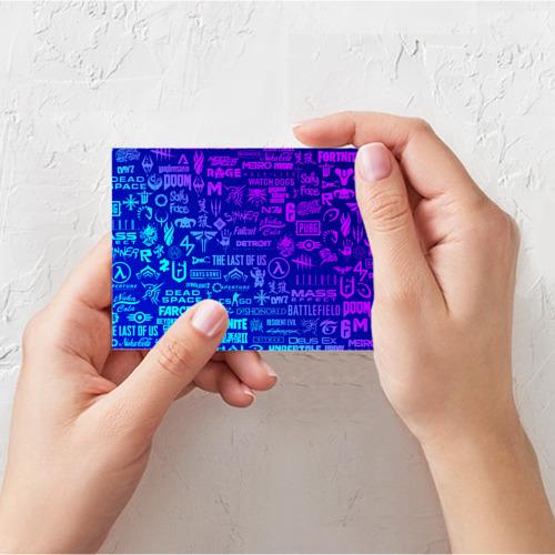 Поздравительная открытка ЛОГОТИПЫ ИГР Фото 01