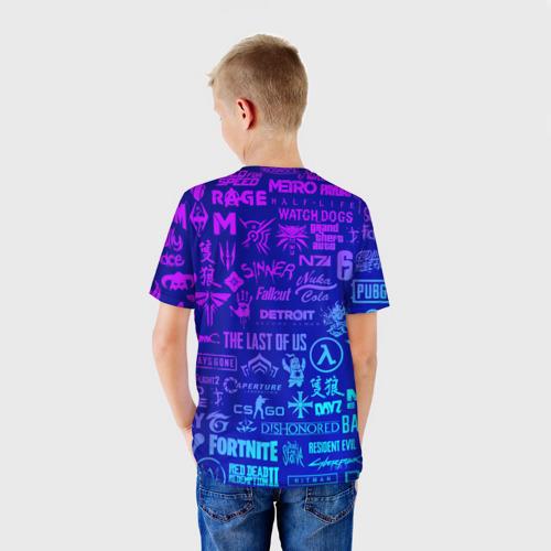 Детская футболка 3D ЛОГОТИПЫ ИГР Фото 01