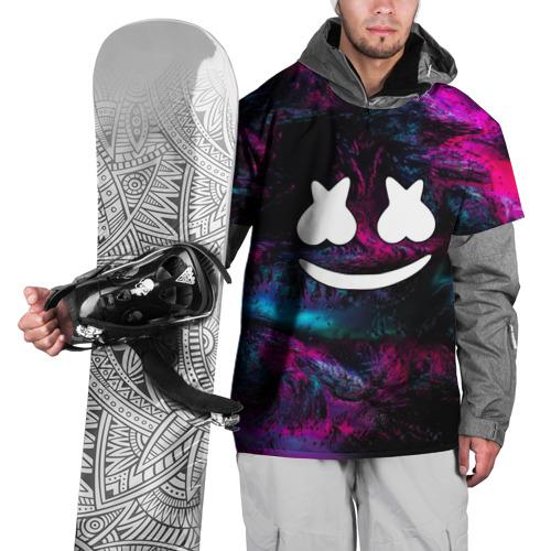 Накидка на куртку 3D Marshmello NEON Фото 01