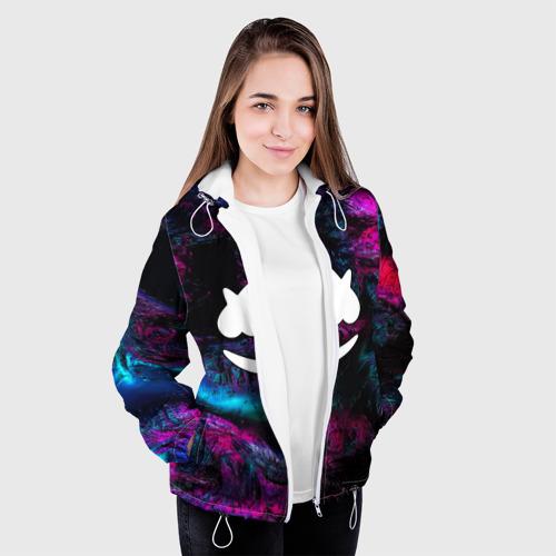 Женская куртка 3D Marshmello NEON Фото 01