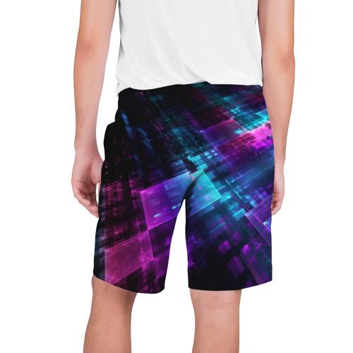 Мужские шорты 3D Неоновая абстракция Фото 01