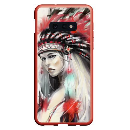 Чехол для Samsung S10E Индейская девушка Фото 01