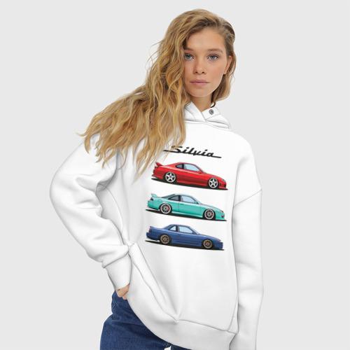 Женское худи Oversize хлопок Silvia Family Фото 01