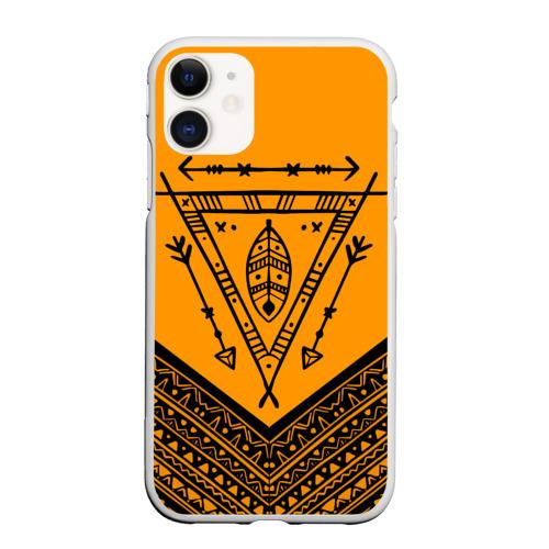 Чехол для iPhone 11 матовый native american Фото 01