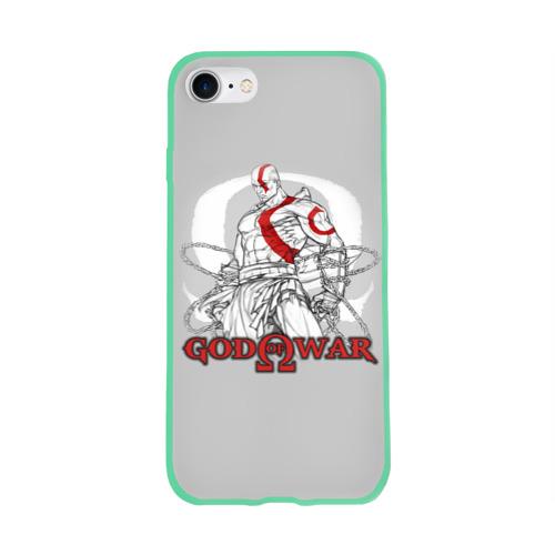 Чехол для Apple iPhone 8 силиконовый глянцевый God of War Фото 01