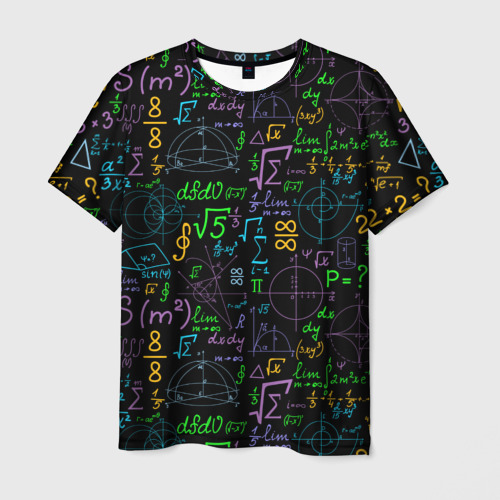 Мужская футболка 3D Шпаргалка