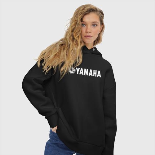 Женское худи Oversize хлопок YAMAHA Фото 01