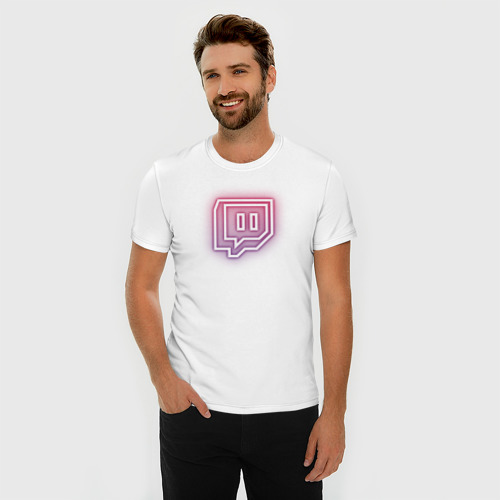 Мужская футболка премиум  Фото 03, Twitch Neon