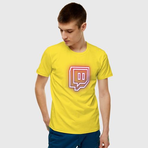 Мужская футболка хлопок Twitch Neon Фото 01