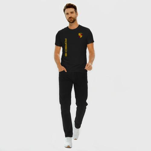 Мужская футболка хлопок Slim PORSCHE Фото 01