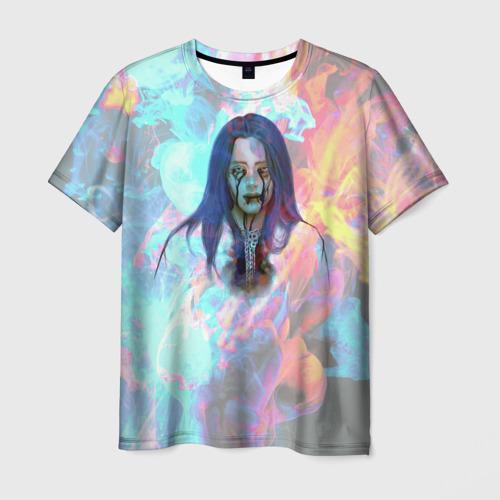Мужская футболка 3D Billie Eilish Dark