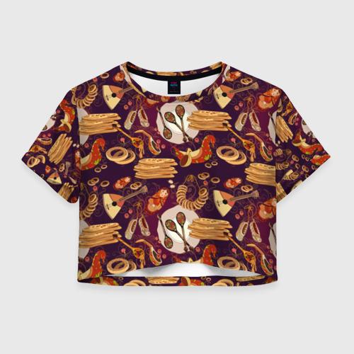 Женская футболка Cropp-top Русские блины
