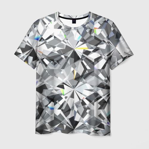 Мужская футболка 3D Бриллиантовое мерцание