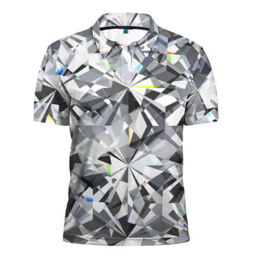 Мужская рубашка поло 3D Бриллиантовое мерцание
