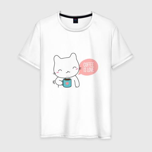 Мужская футболка хлопок Coffee Is Love Фото 01