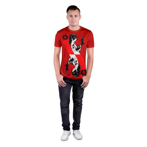 Мужская футболка 3D спортивная  Фото 04, Дама бубен