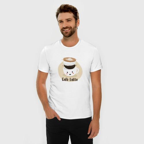 Мужская футболка премиум  Фото 03, Cafe Latte
