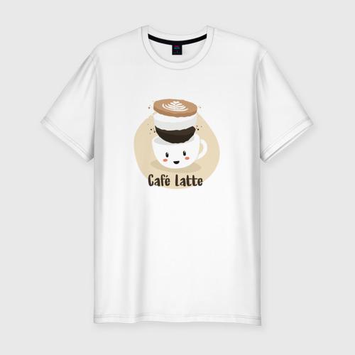 Мужская футболка премиум  Фото 01, Cafe Latte
