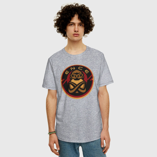 Мужская футболка хлопок Oversize ENCE Team Фото 01