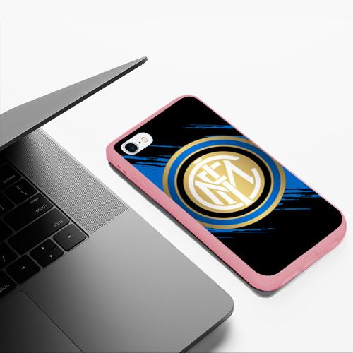 Чехол для iPhone 6Plus/6S Plus матовый Интер Милан Фото 01