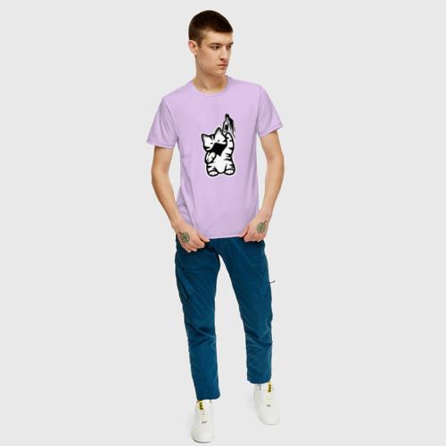 Мужская футболка хлопок Anarchist Cat Molotov Cocktail Фото 01