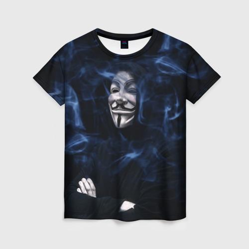 Женская футболка 3D Anonymous