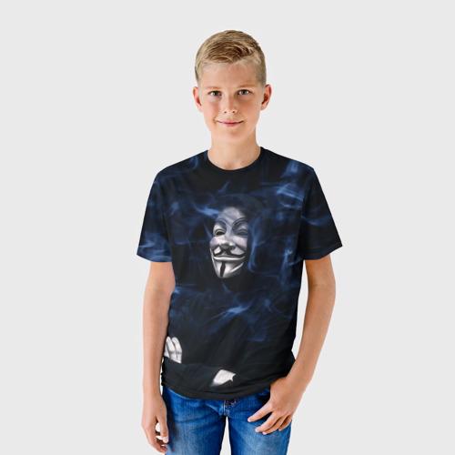 Детская футболка 3D Anonymous