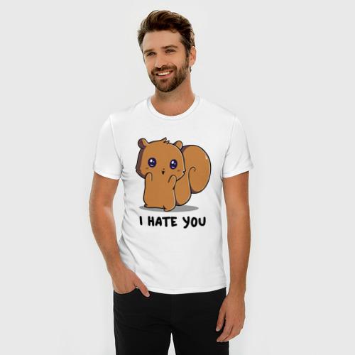 Мужская футболка премиум  Фото 03, I hate you