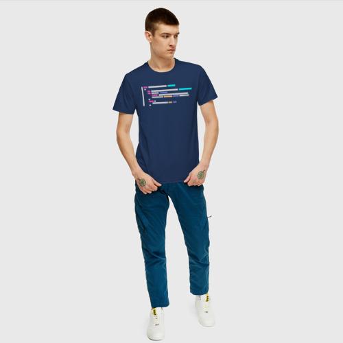 Мужская футболка хлопок Подсветка синтаксиса кода Фото 01