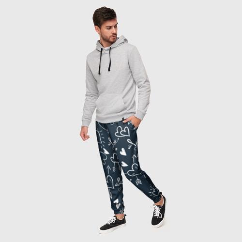 Мужские брюки 3D Любовь Фото 01