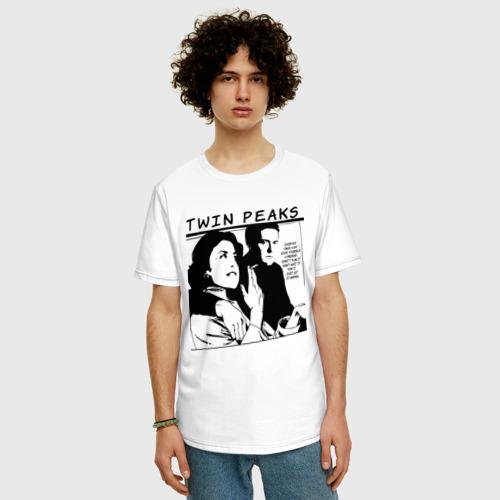 Мужская футболка хлопок Oversize Твин Пикс Фото 01